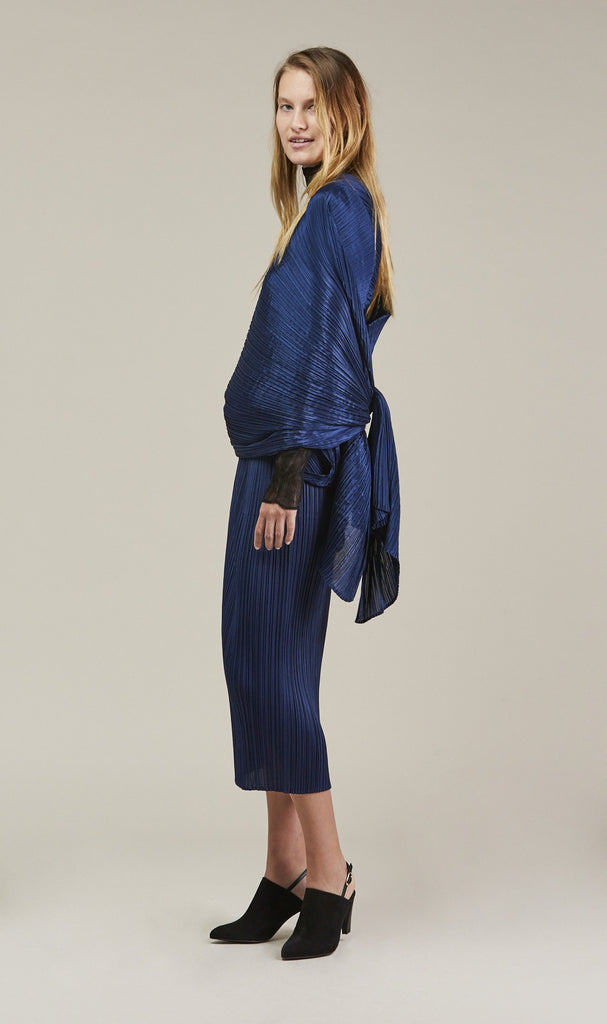 Madame - T Scarf, Blue by Pleats Please by Issey Miyake @ Kick Pleat - 4