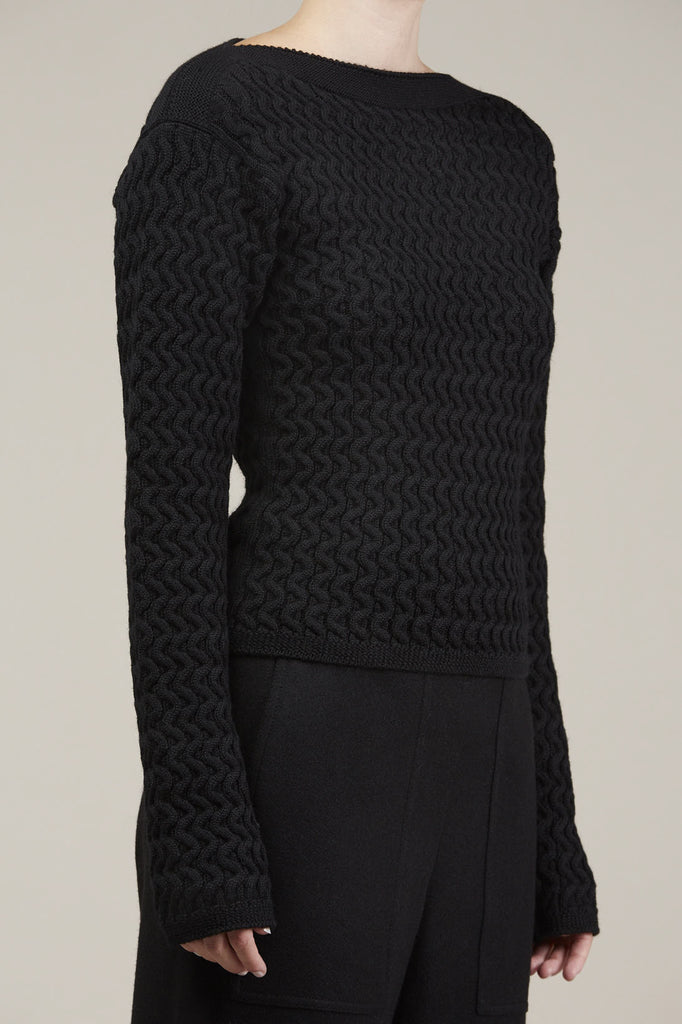 Fitted cable knit sweater by Lemaire @ Kick Pleat - 2