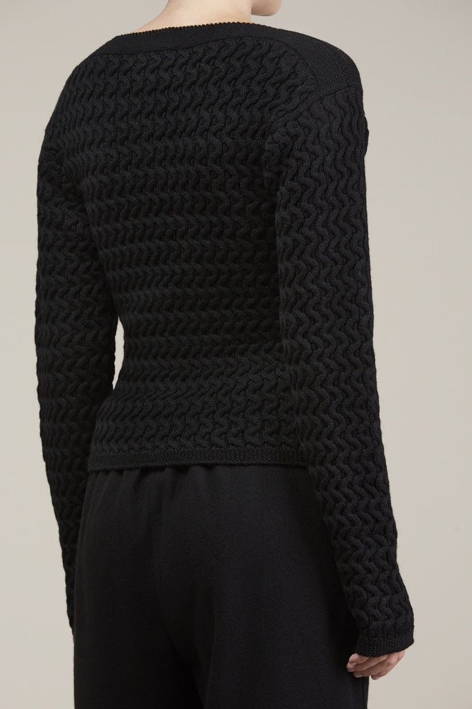 Fitted cable knit sweater by Lemaire @ Kick Pleat - 4