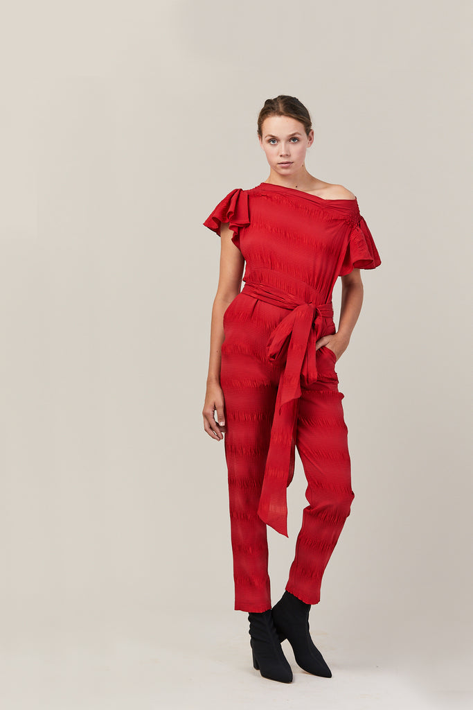 Stance Jumpsuit, Red