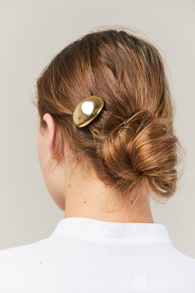 Balloon Hair Barrette, Gold