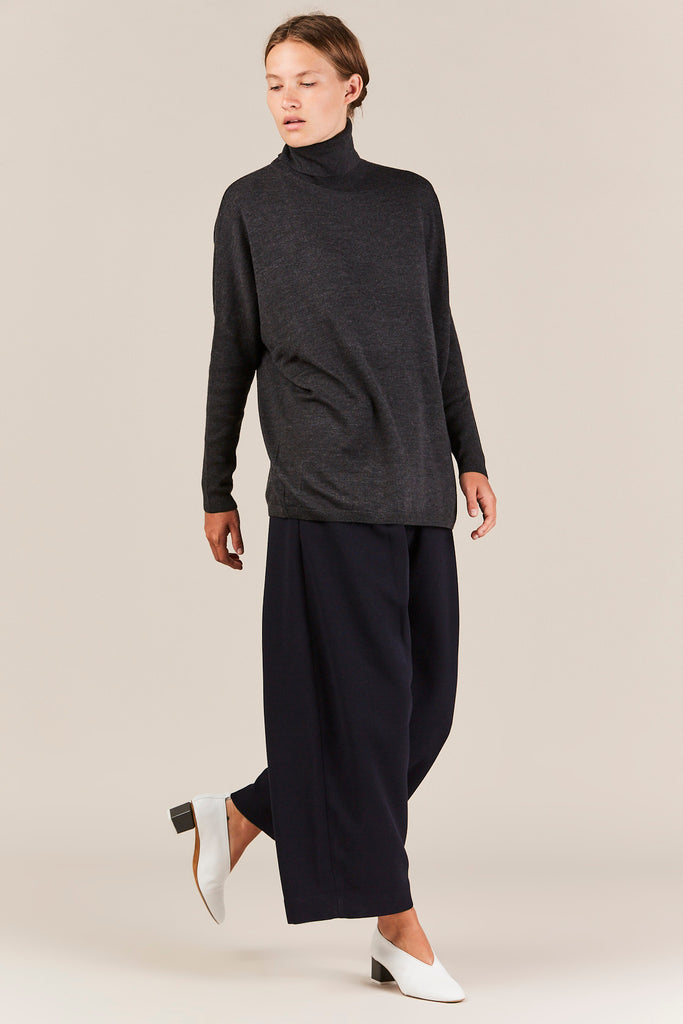 Dolman Turtleneck, Charcoal