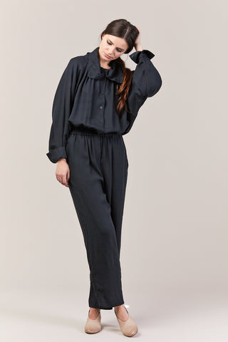 Gathered Jumpsuit, Dark Green