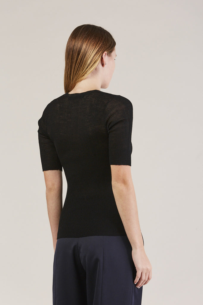 HALF SLEEVE TOP, Black by Creatures of Comfort @ Kick Pleat - 5