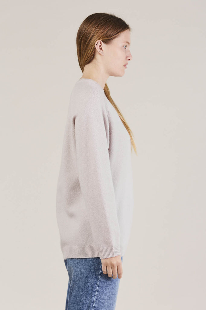 Ajo Felt fuzzy sweater, Lilac by NORSE PROJECTS @ Kick Pleat - 5