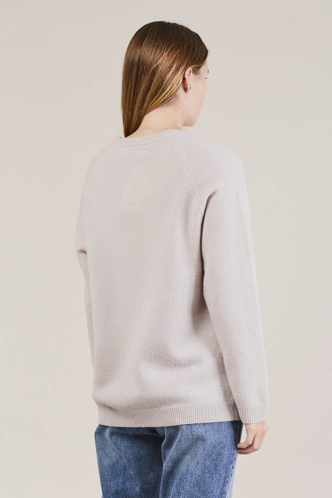 Ajo Felt fuzzy sweater, Lilac by NORSE PROJECTS @ Kick Pleat - 4