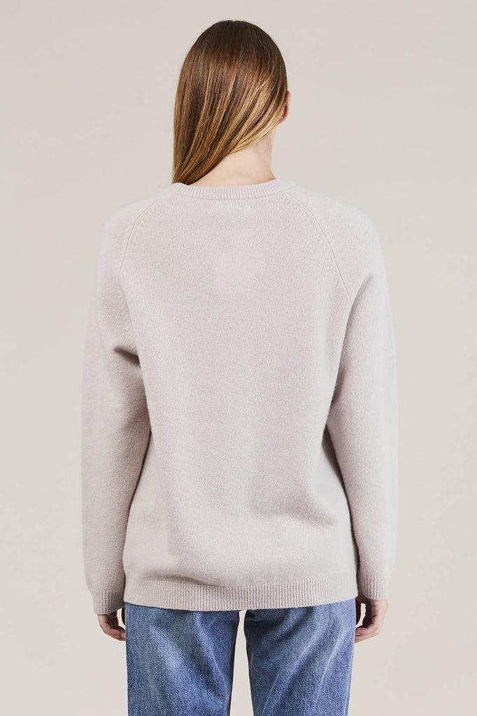 Ajo Felt fuzzy sweater, Lilac by NORSE PROJECTS @ Kick Pleat - 3