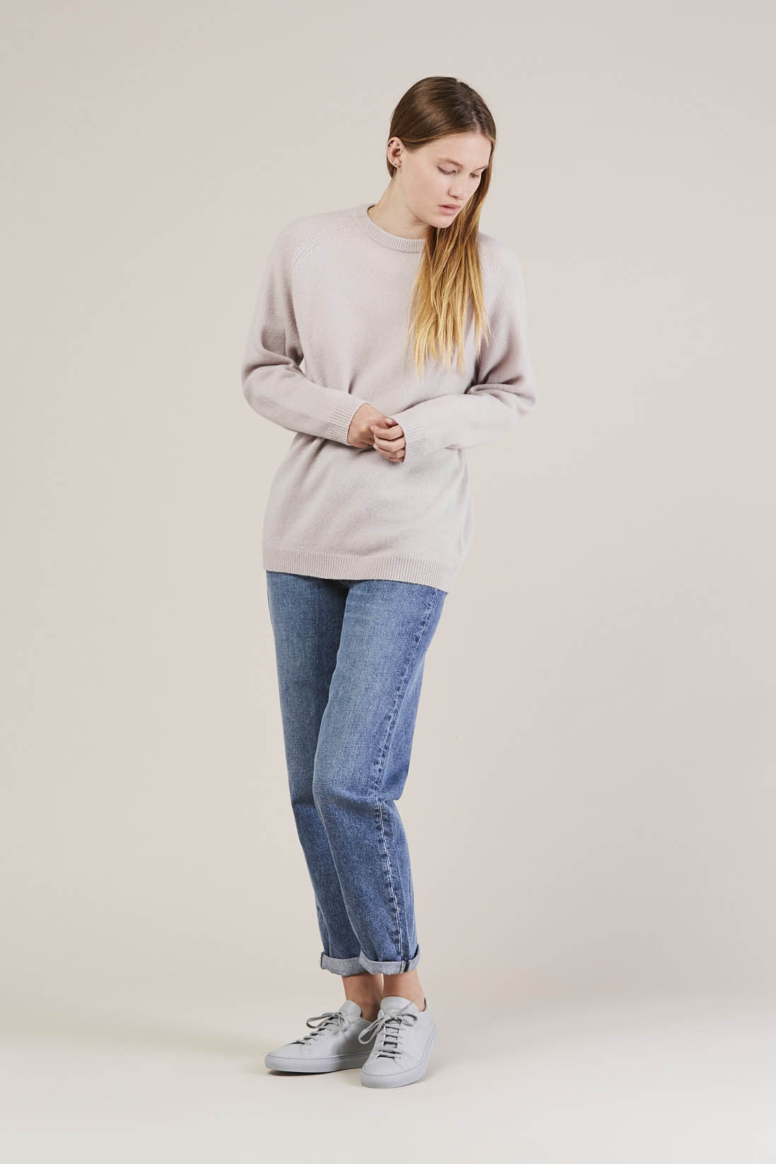 Ajo Felt fuzzy sweater, Lilac by NORSE PROJECTS @ Kick Pleat - 1