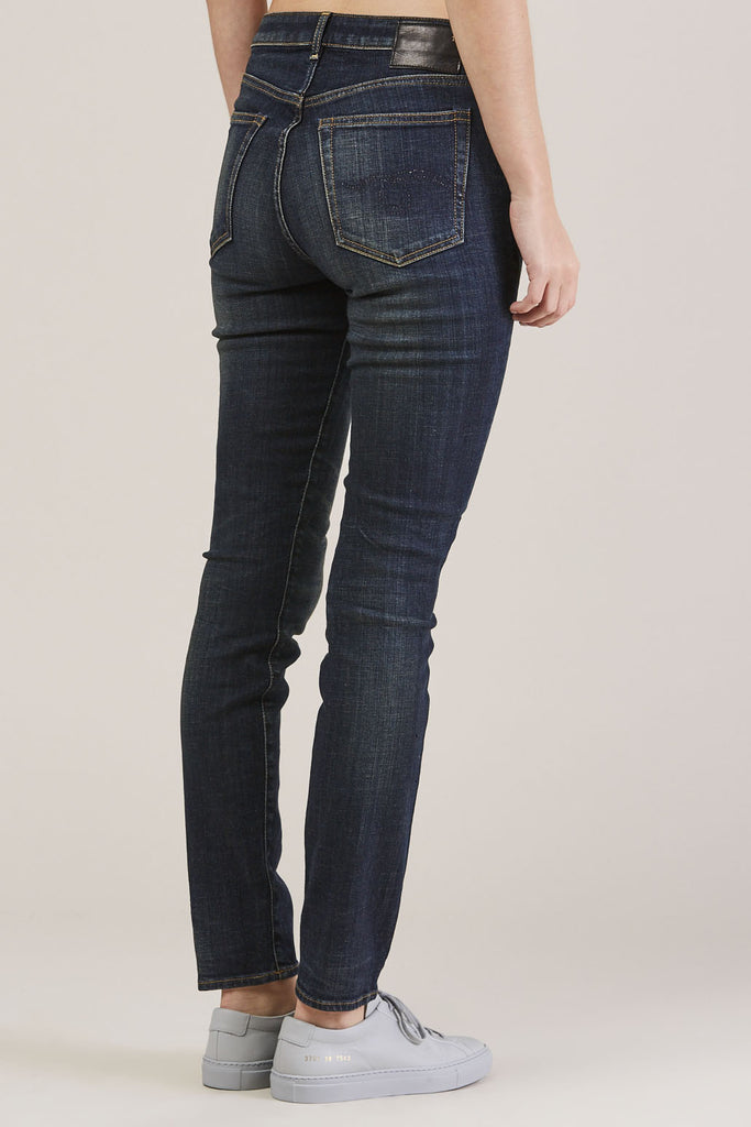 Jenny Mid Rise Skinny by R13 @ Kick Pleat - 5