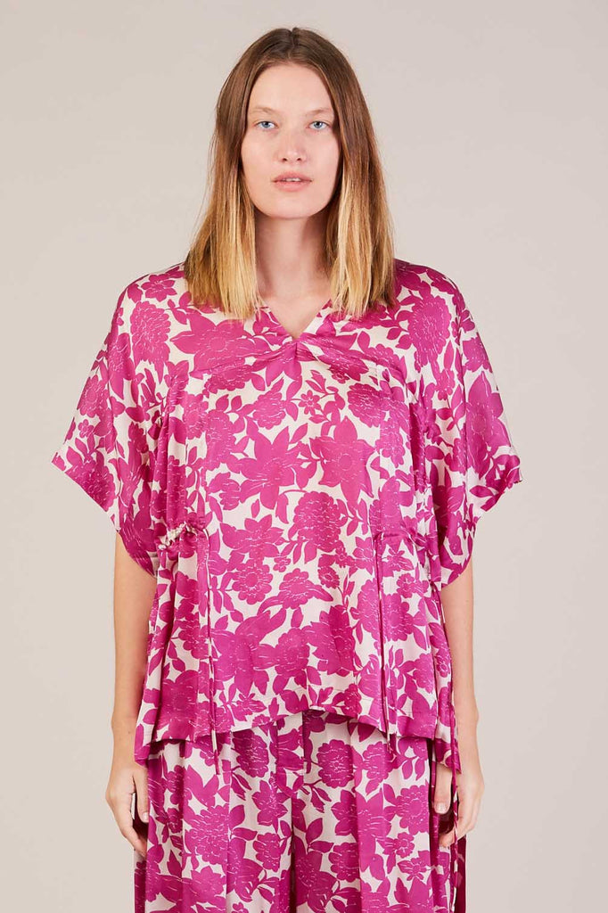 Torbe floral blouse, Fuchsia