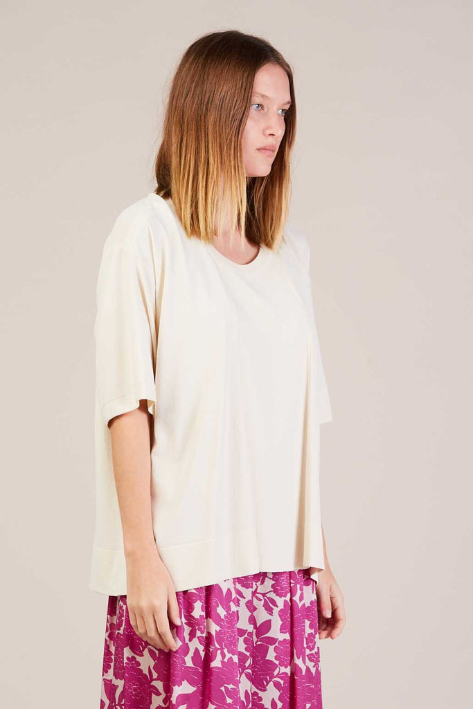 Kirsti S/S Knit Top, Off White by Christian Wijnants