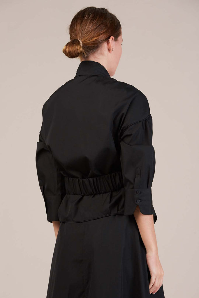Belted Top, Coal by Veronique Leroy