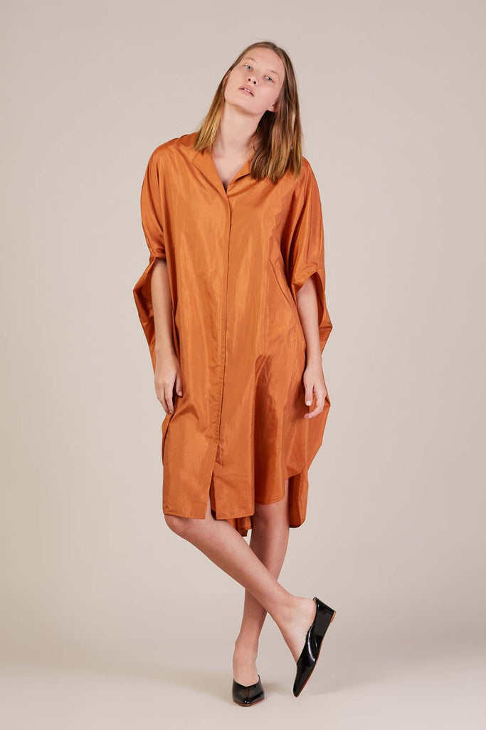 Oversized dress, Bright Orange