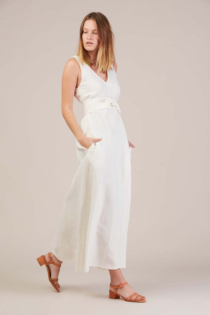 Palma dress, Salt White