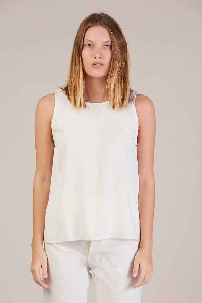 Palma tank top, Salt White