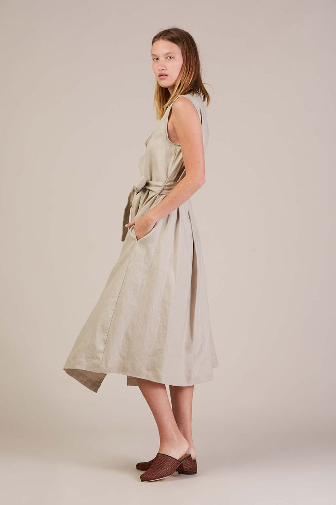 Amalfi wrap dress, Tan