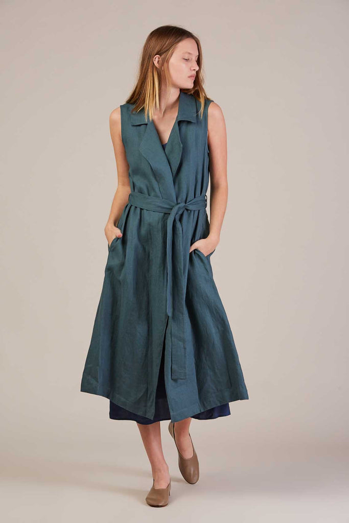 Amalfi wrap dress, Green Sea