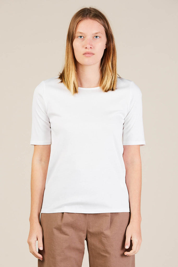 Ribbed tee, White