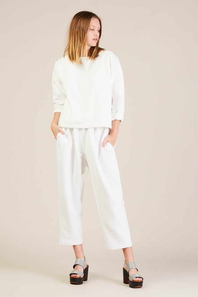 Pull on pants, White