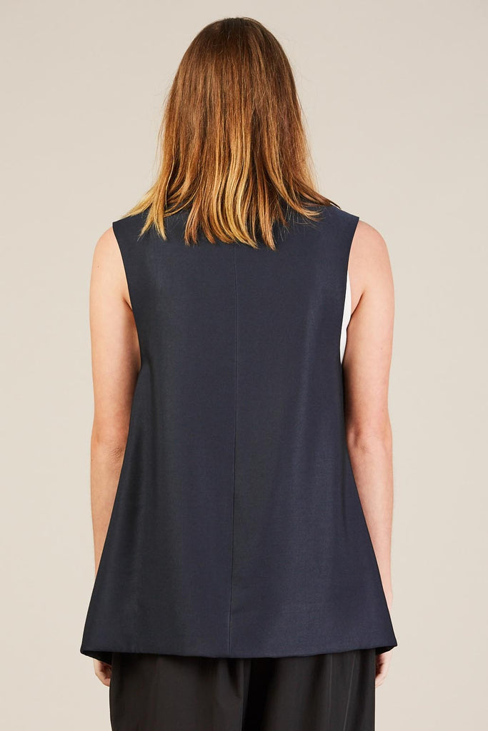 Vest, Blue/Black by Suzanne Rae