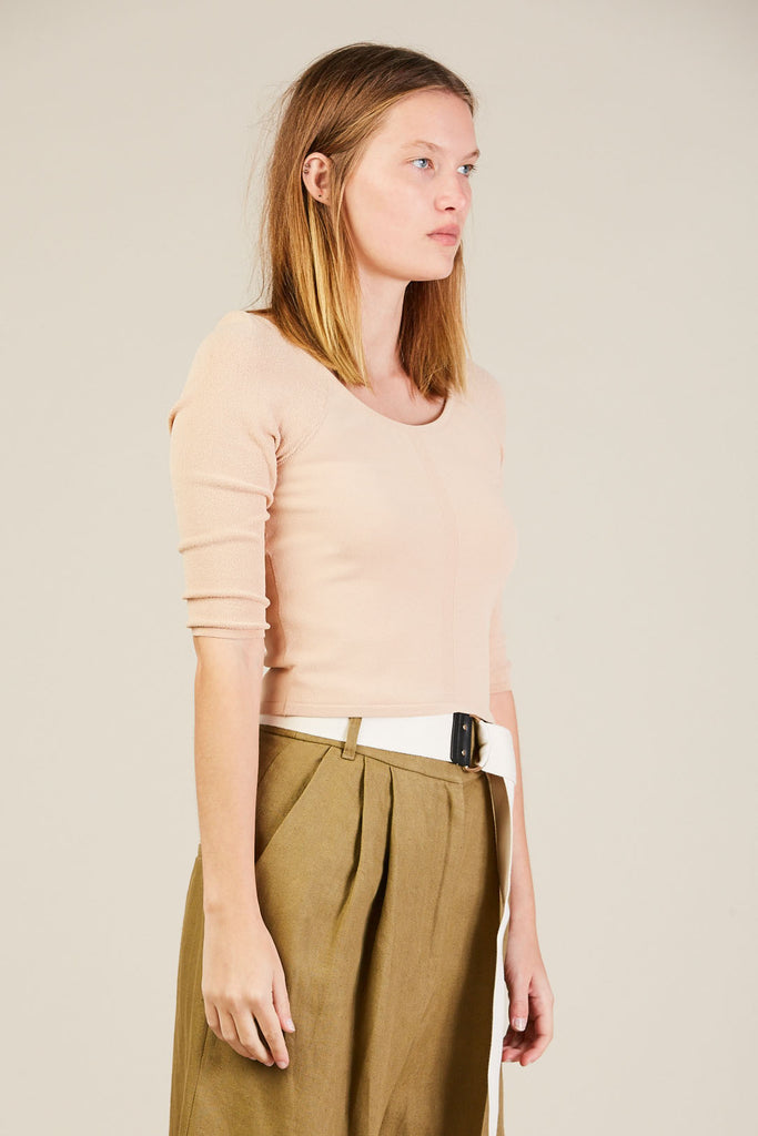Elbow sleeve knit top, Gel by Suzanne Rae