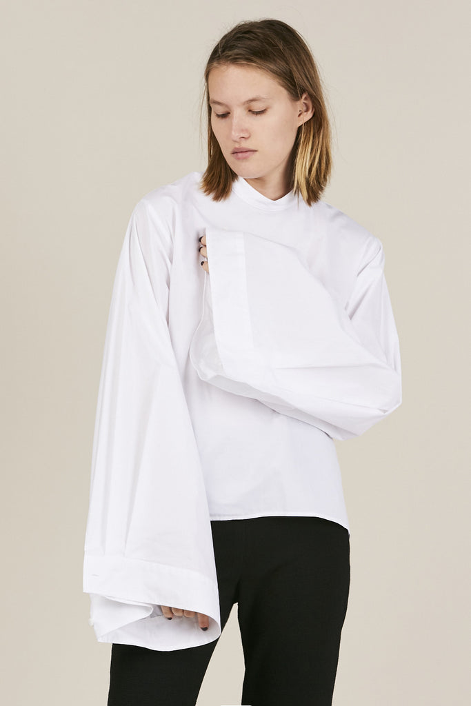 MM6 by Maison Martin Margiela - Large sleeve blouse, White - Tops