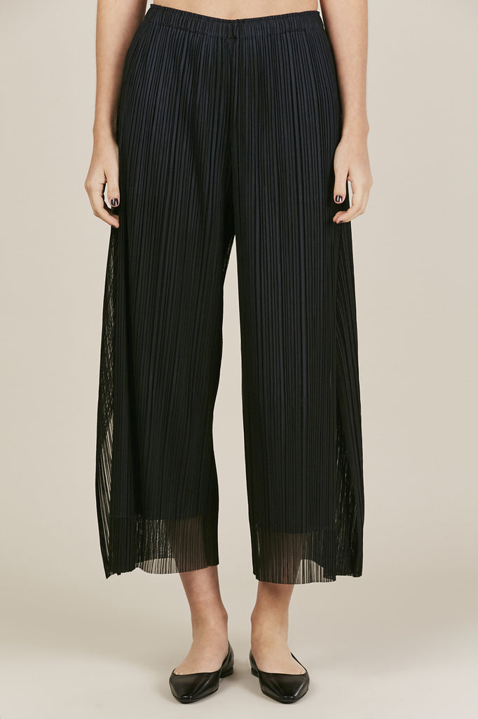 Pleats Please by Issey Miyake - Flutter Tulle Pant, Black/Navy - Pants