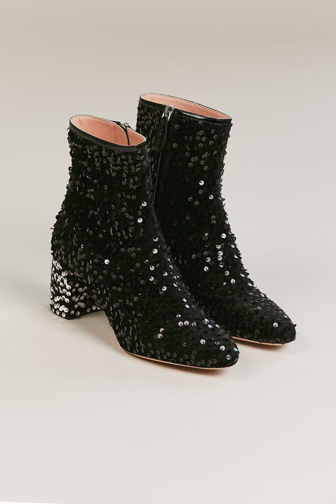 Sequin Boots, Black