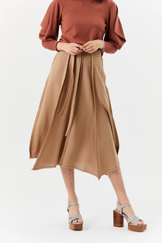 Long Angles Skirt, Camel