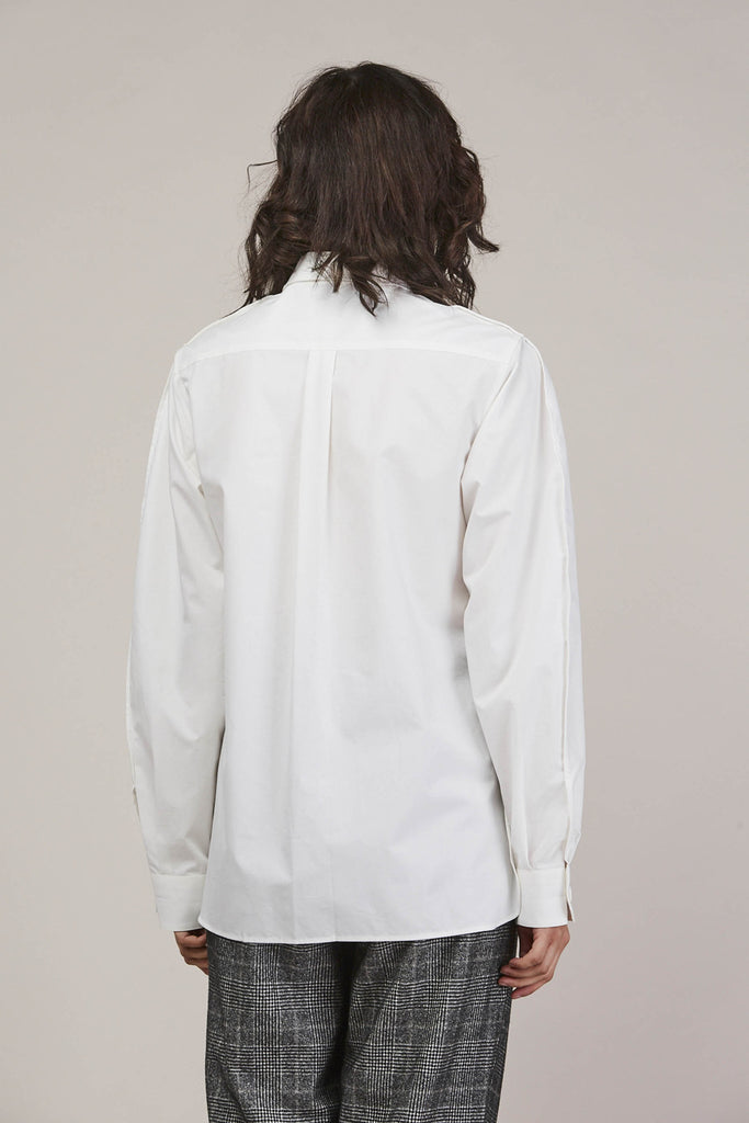 Large sleeve shirt, Chalk by Lemaire @ Kick Pleat - 6