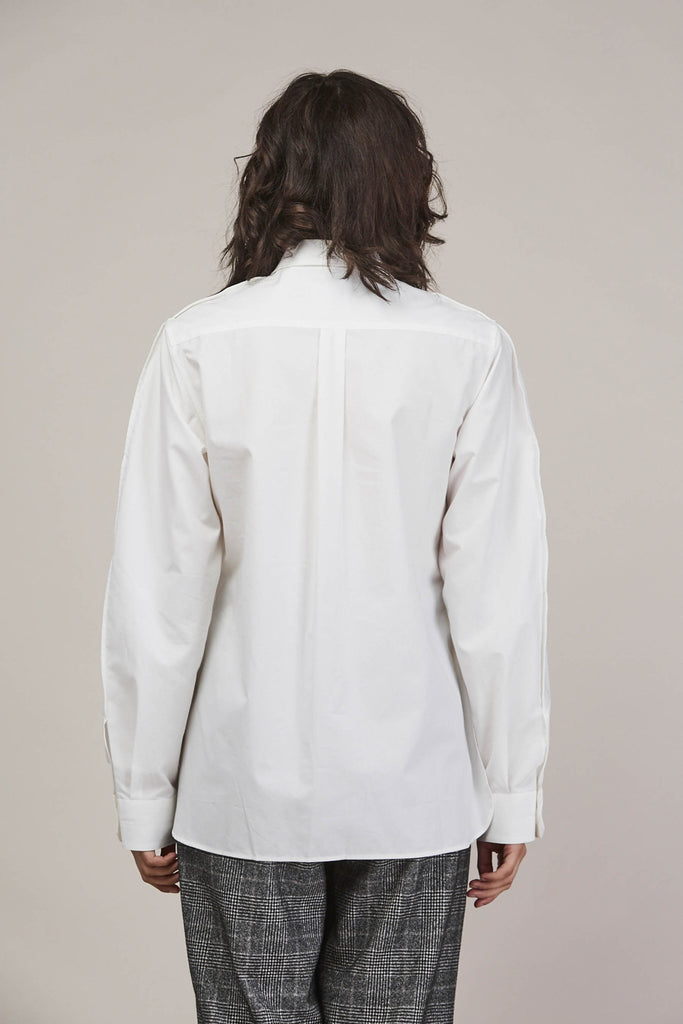 Large sleeve shirt, Chalk by Lemaire @ Kick Pleat - 7