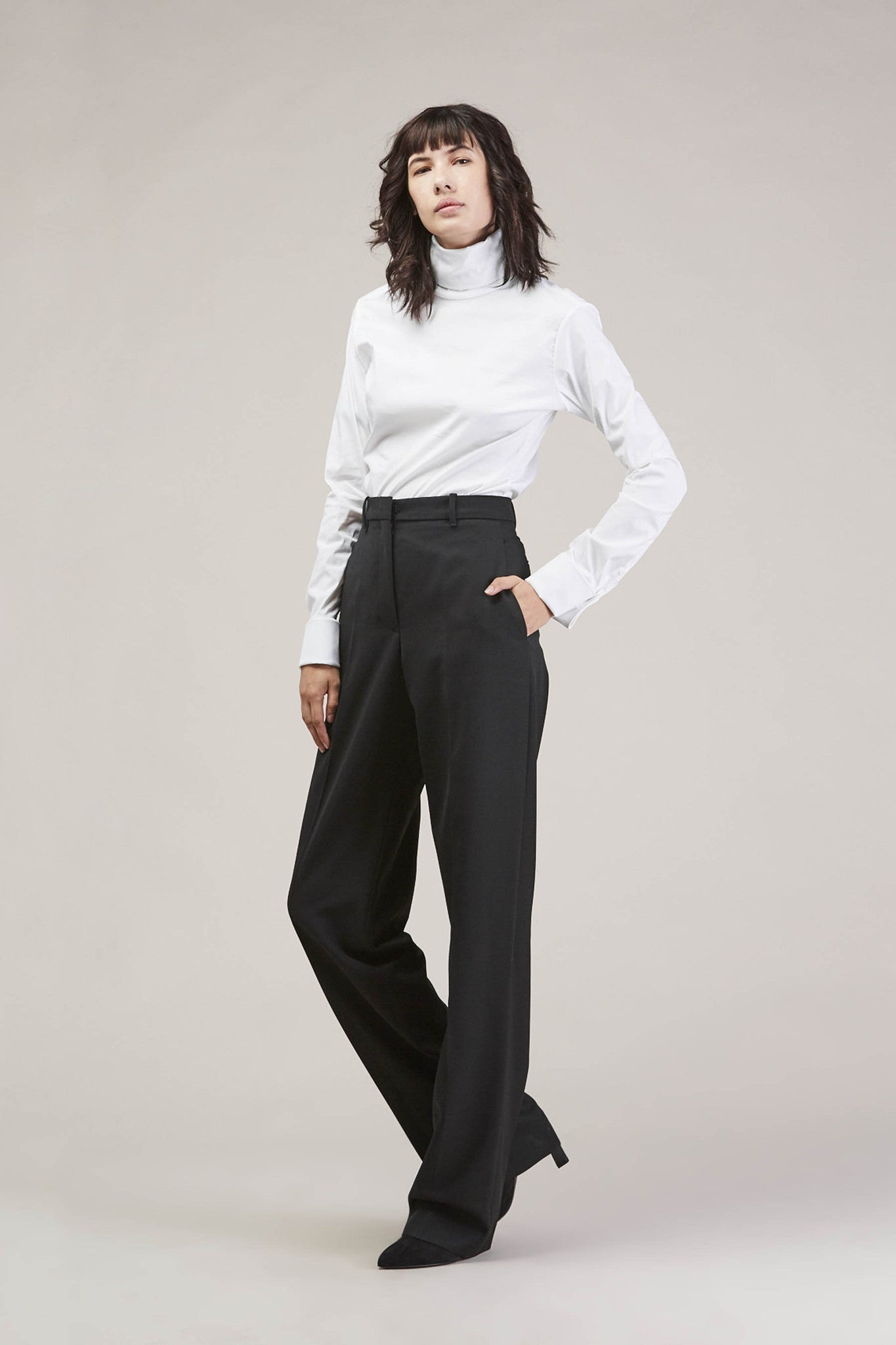 Barnaba basic pants, Black by JIL SANDER @ Kick Pleat - 1