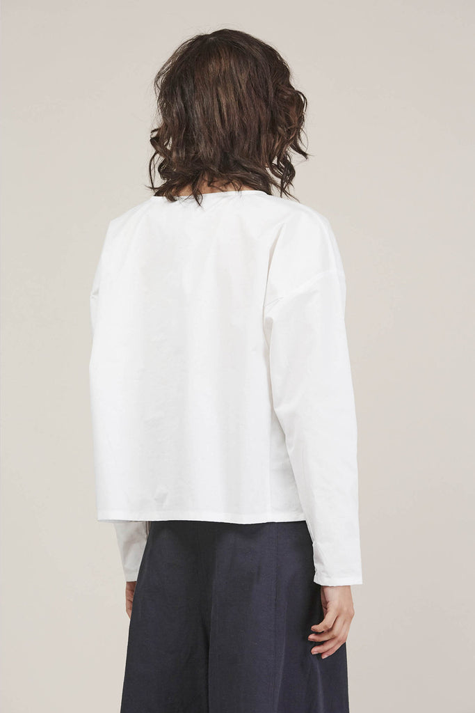 Suma L/S Short Top, White by PRIORY @ Kick Pleat - 5