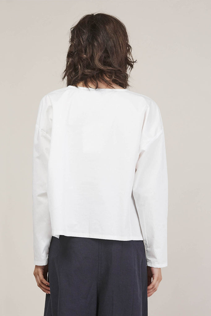 Suma L/S Short Top, White by PRIORY @ Kick Pleat - 6