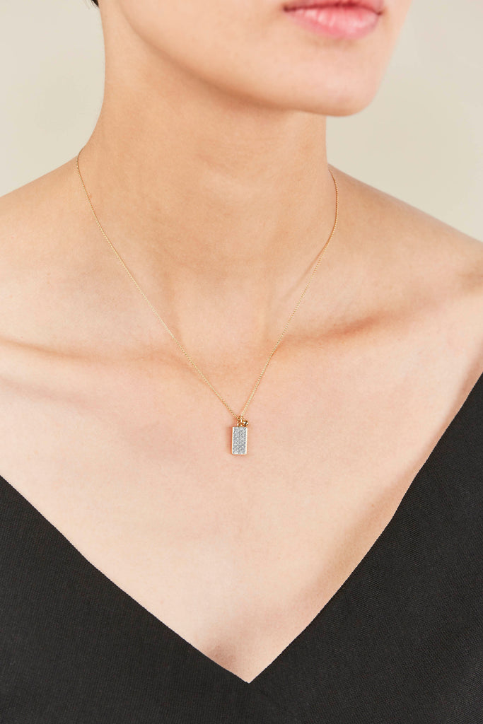 Mini Diamond Ever Rectangle on Chain