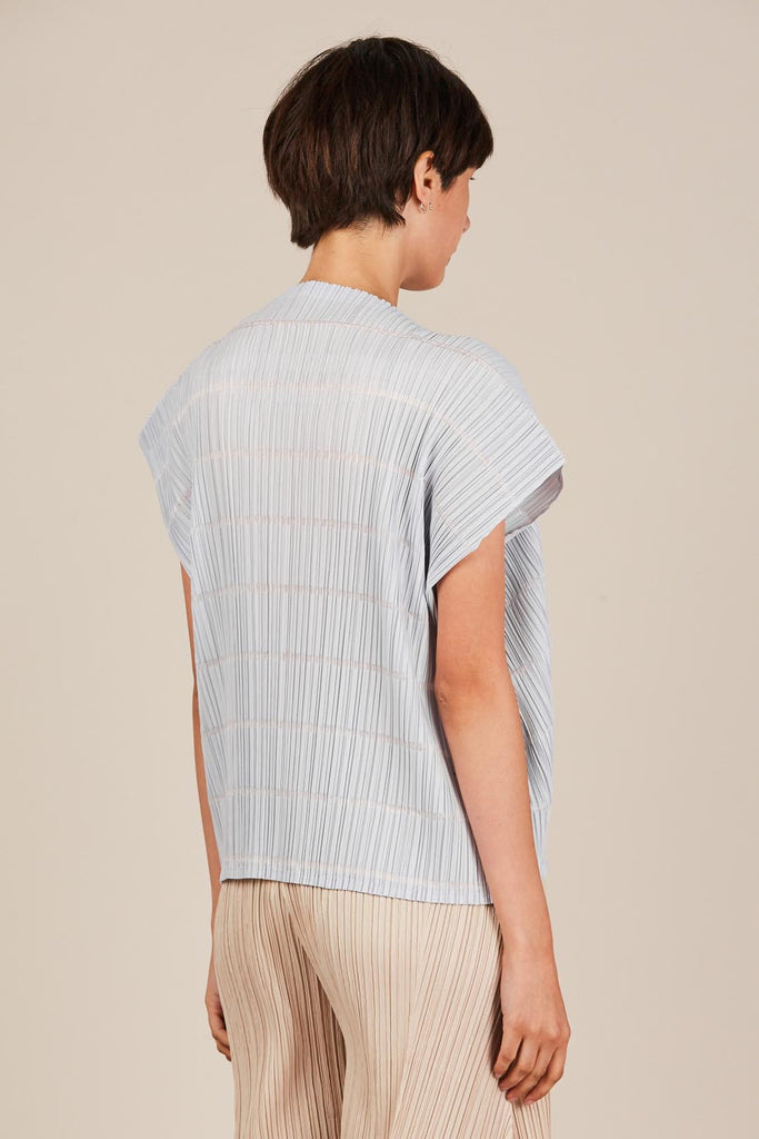 Pata Box Top, Ice Grey by Pleats Please by Issey Miyake
