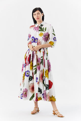 chemisier dress, flowers