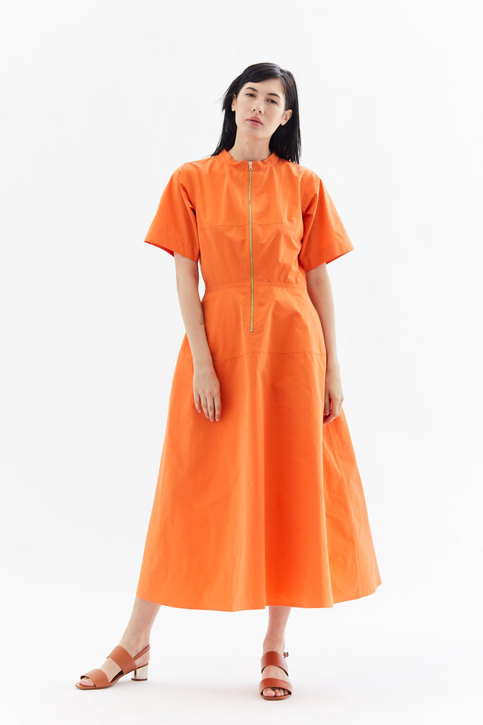 long dress, Tangerine
