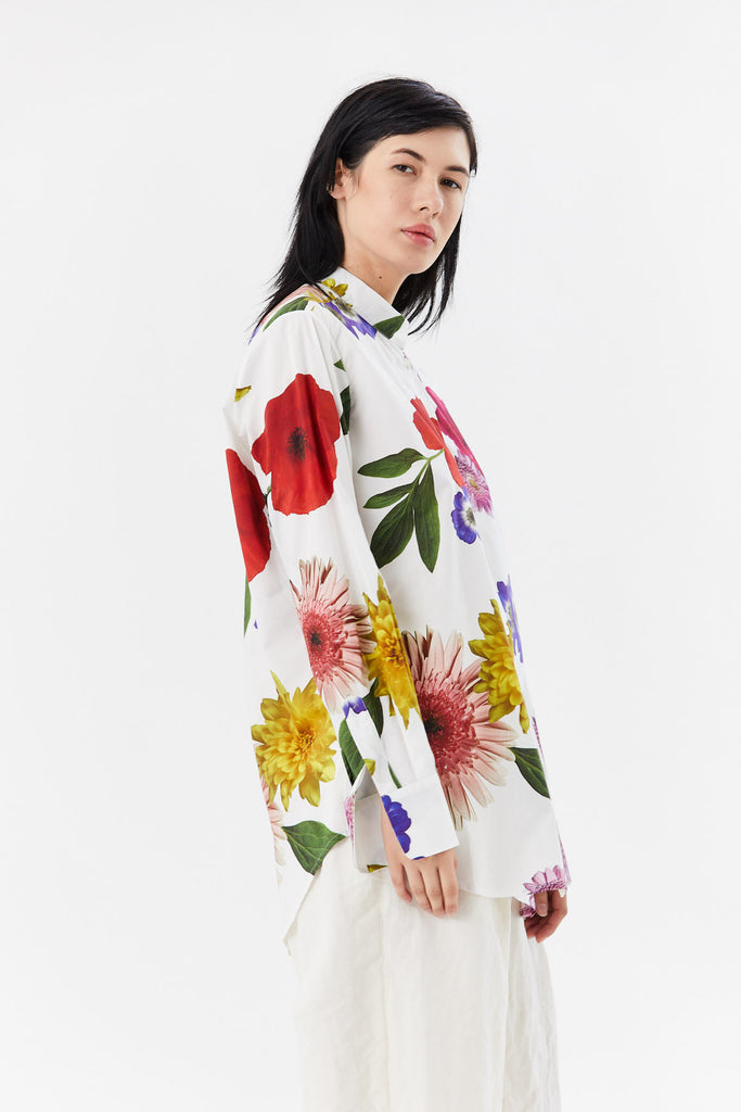 oversized shirt, flowers