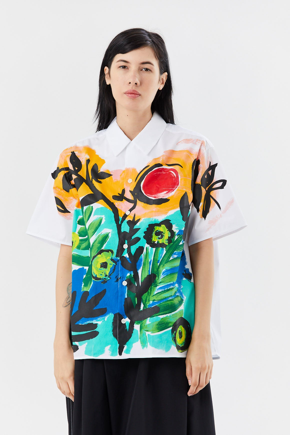 MARNI - print button down, Moss