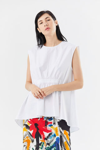 leonor top, white