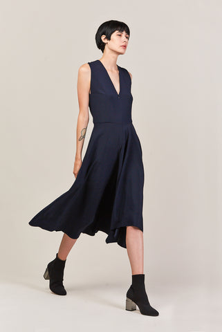 Wave Dress, Black