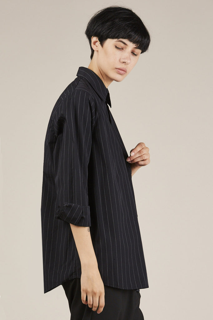 Elma Shirt, Black Stripe