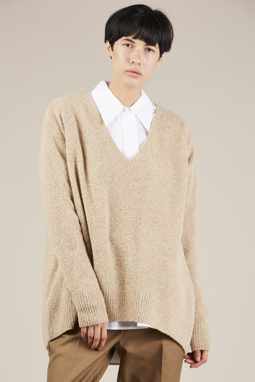 Kimir Sweater, Beige - Christian Wijnants