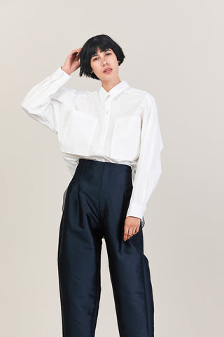 Cotton Pocket Shirt, White