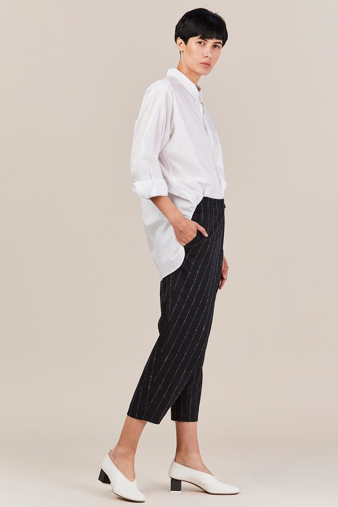 Nehera - Prusso Striped Trousers, Dark Blue