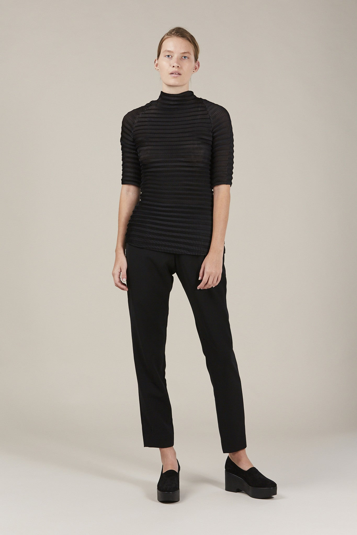 S/S turtleneck, Black by Issey Miyake @ Kick Pleat - 1