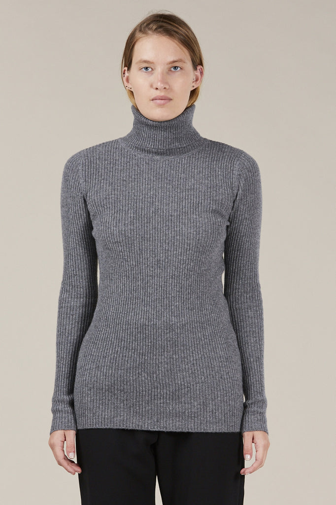 Ginny Ribbed Turtleneck Sweater by Demylee @ Kick Pleat - 2