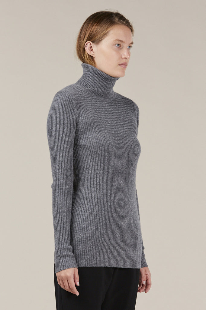 Ginny Ribbed Turtleneck Sweater by Demylee @ Kick Pleat - 3