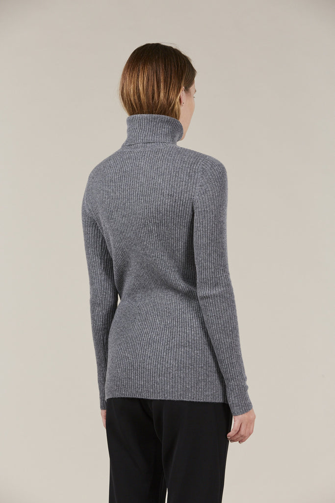Ginny Ribbed Turtleneck Sweater by Demylee @ Kick Pleat - 5